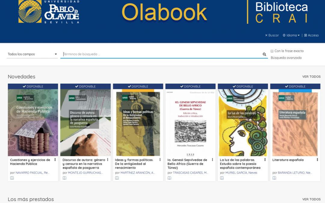 Olabook, la plataforma digital de la Biblioteca de la Universidad Pablo de Olavide