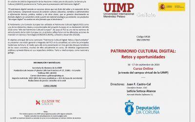 Conclusiones del Curso «Patrimonio digital cultural: retos y oportunidades»