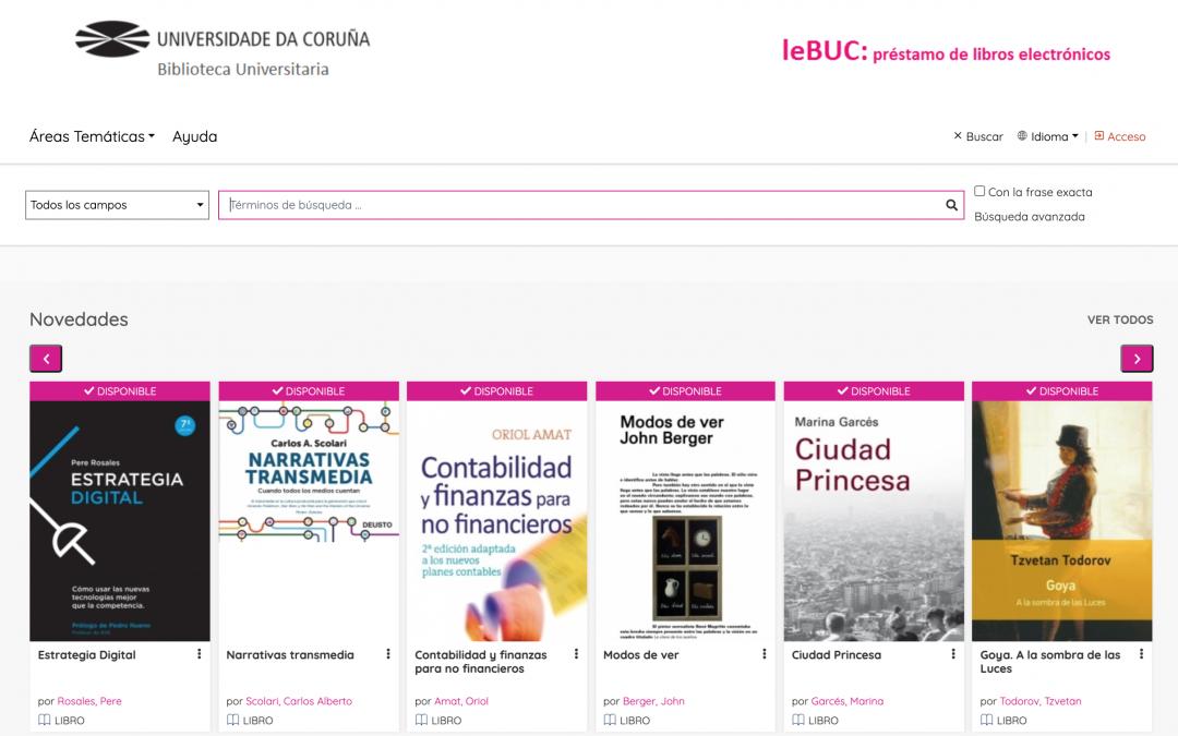 leBUC: la plataforma digital del Servicio de Biblioteca de la Universidad de A Coruña