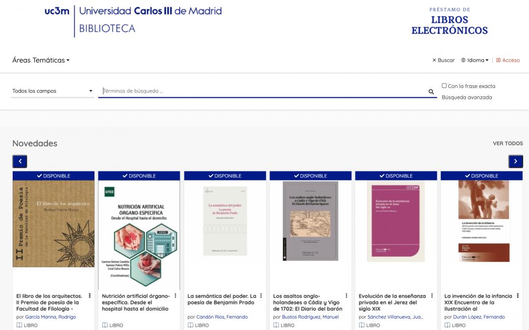 Descubre la nueva plataforma de gestión de libros electrónicos en la Biblioteca de la Universidad Carlos III de Madrid
