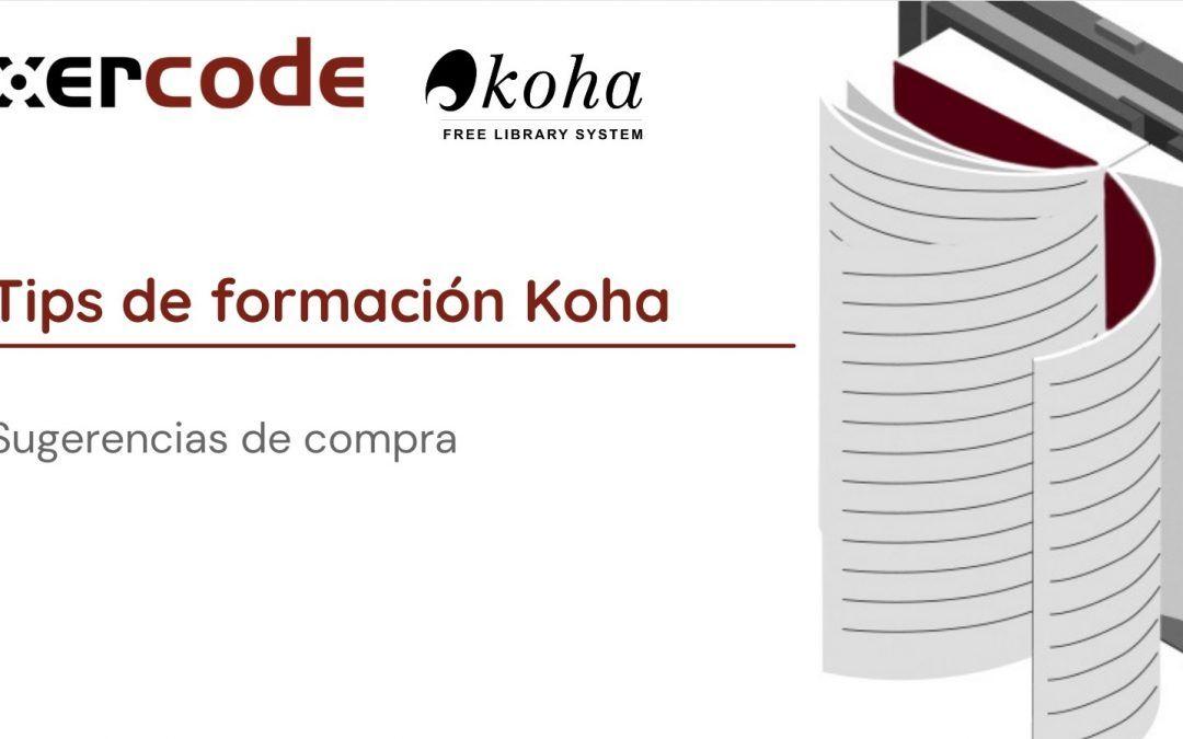 Gestionar sugerencias de compra en Koha