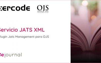 Nuevo servicio  de JATS XML para OJS